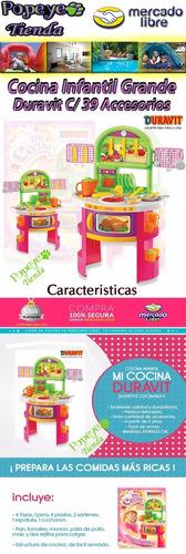 juegos infantiles cocina duravit 39 accesorios grande nena