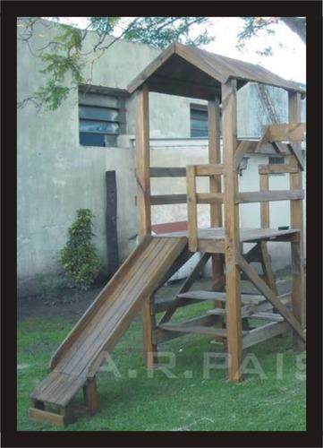 juegos infantiles de madera navidad mangrullo y tobogan soga