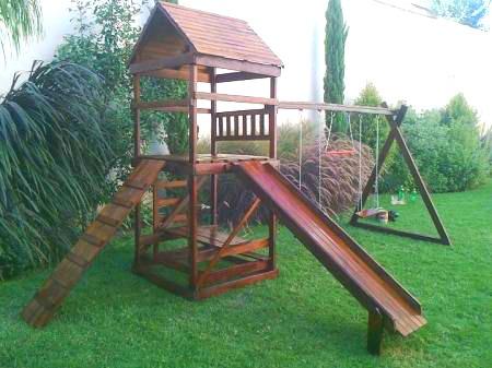 Juegos Infantiles De Madera Para Jardines - $ 40.900,00 en Mercado Libre