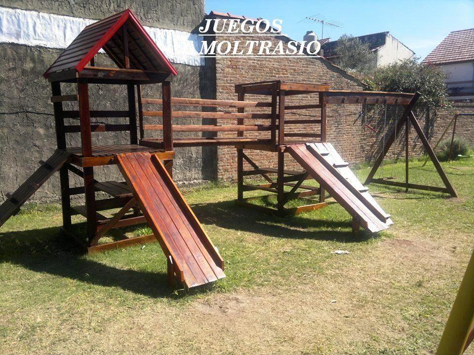 Juegos Infantiles De Madera Para Jardines - $ 25.640,00 en Mercado ...