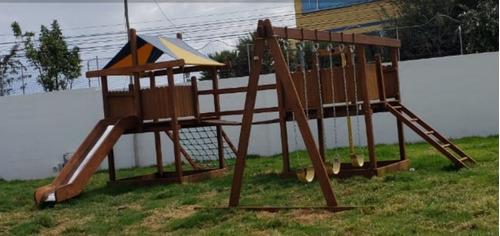 juegos infantiles en madera inmunizada multifunción