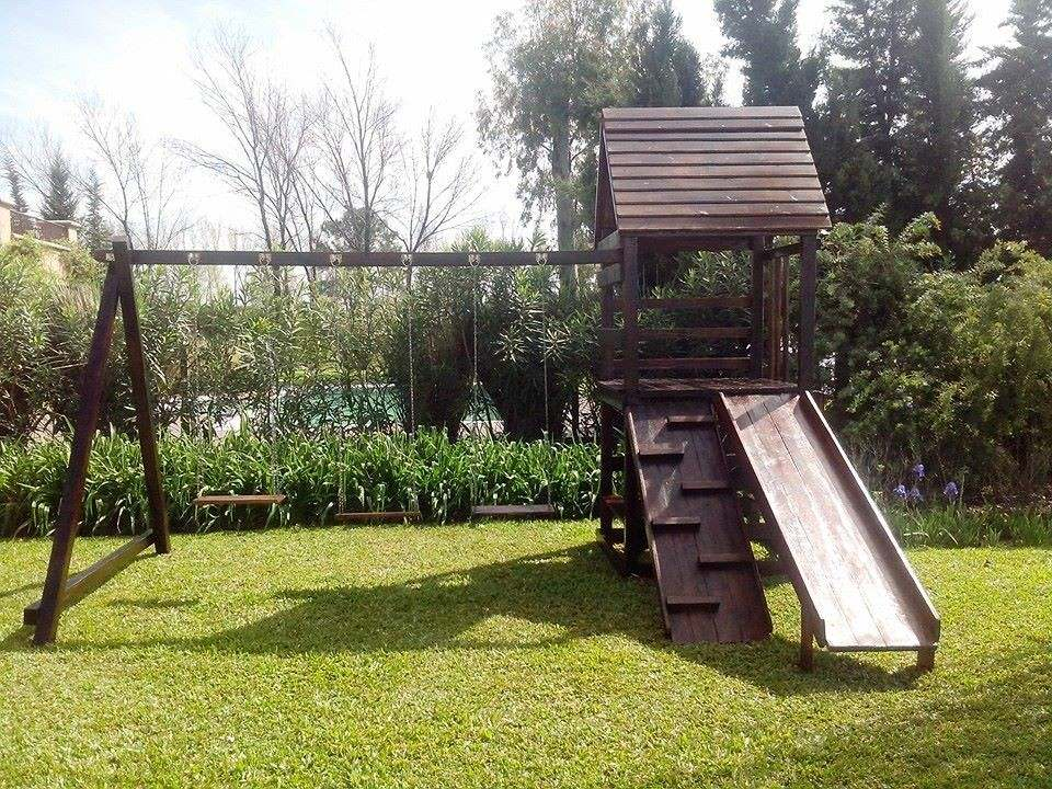 juegos infantiles en madera para jardines