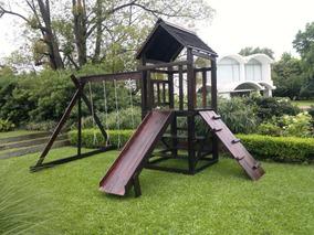 Juegos Infantiles En Madera Para Jardines Exterior/interior