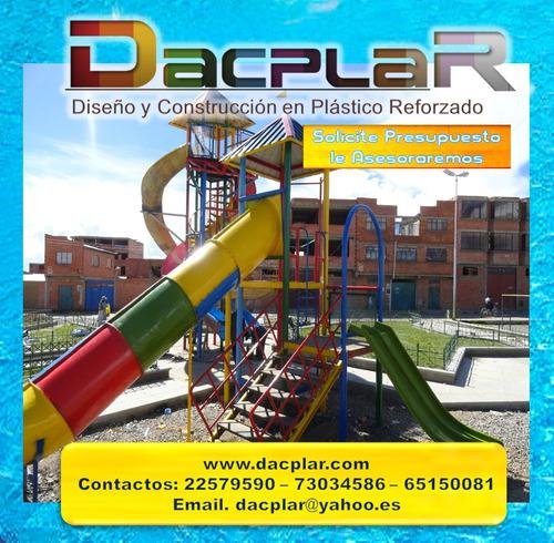 juegos infantiles toboganes acuáticos fábricas de bolivia