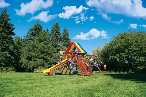 juegos jardin exterior infantiles rainbow