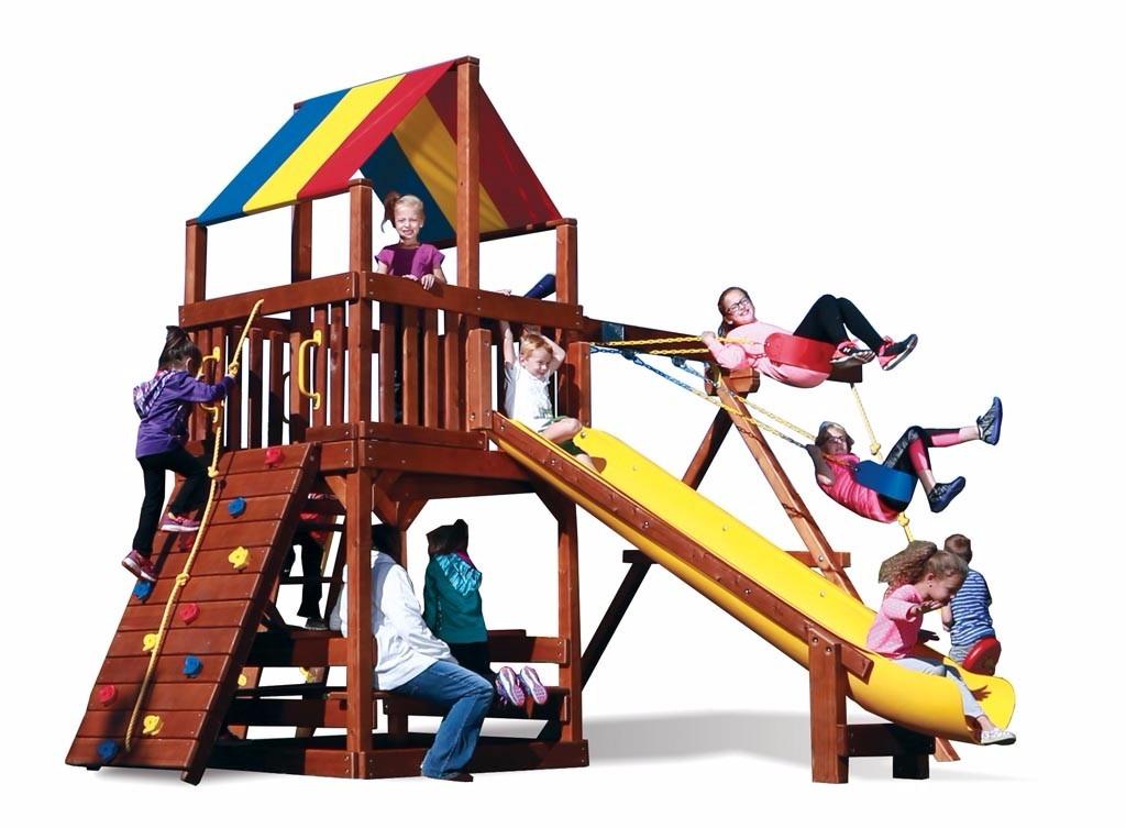 Juegos jardin exterior infantiles rainbow u s - Casa para jardin infantil ...