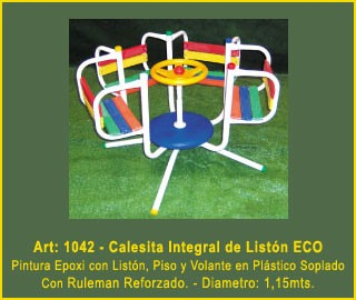 juegos jardin plaza calesita multicolor de liston eco mf