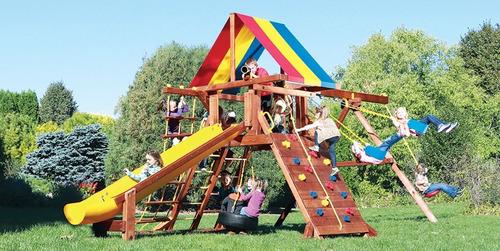 juegos jardin rainbow  fiesta castle fca5 ii