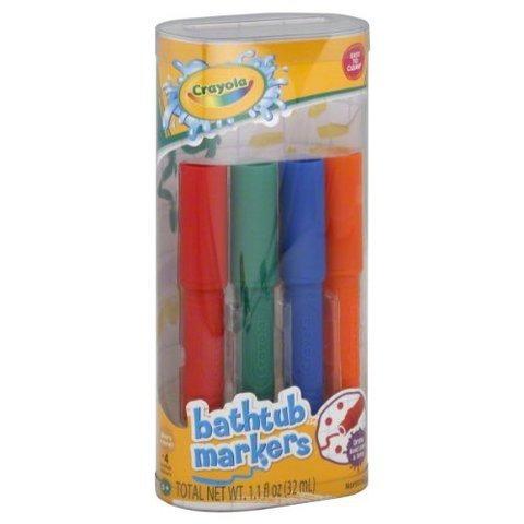 juegos / juego crayola bathtub markers, 4 pk. lavable, plum