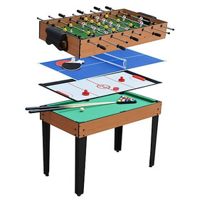 80cbce633b1ba Futbolito Mesa Multijuegos 4 En 1 Billar Ping Pong Hockey