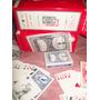 Caja Naipe / Cartas Plásticas Playing A-z (excelente K )