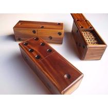 Domino De Madera Juego De Mesa Cajas De Lujo Tradicional