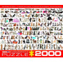 Jigsaw Puzzle - El Mundo De Los Gatos 2000 Pedazo Eurographi
