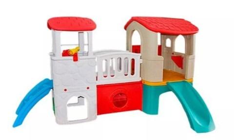 juegos niños plastico resbaladera casita cuna jardin colegio