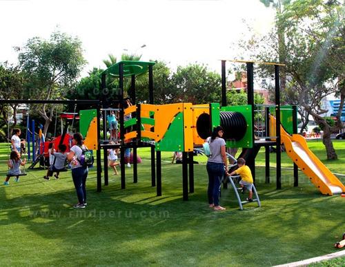 juegos niños y parques infantiles. columpios y toboganes.