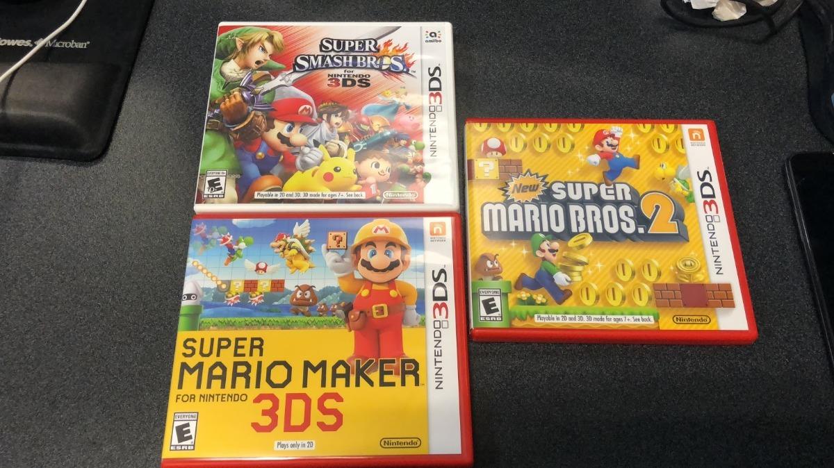 Juegos Nintendo 3ds Mario Maker Smash Bros Super Mario 2