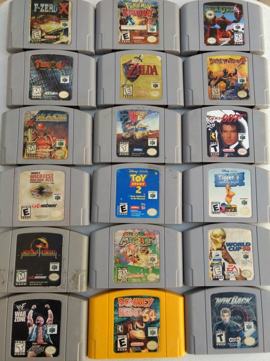 18 Juegos Nintendo 64 Mario Zelda 007 Envio Gratis 5 299 00 En