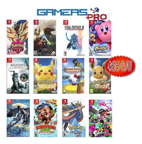 juegos nintendo switch + 100 títulos desde $40 entrega hoy!!