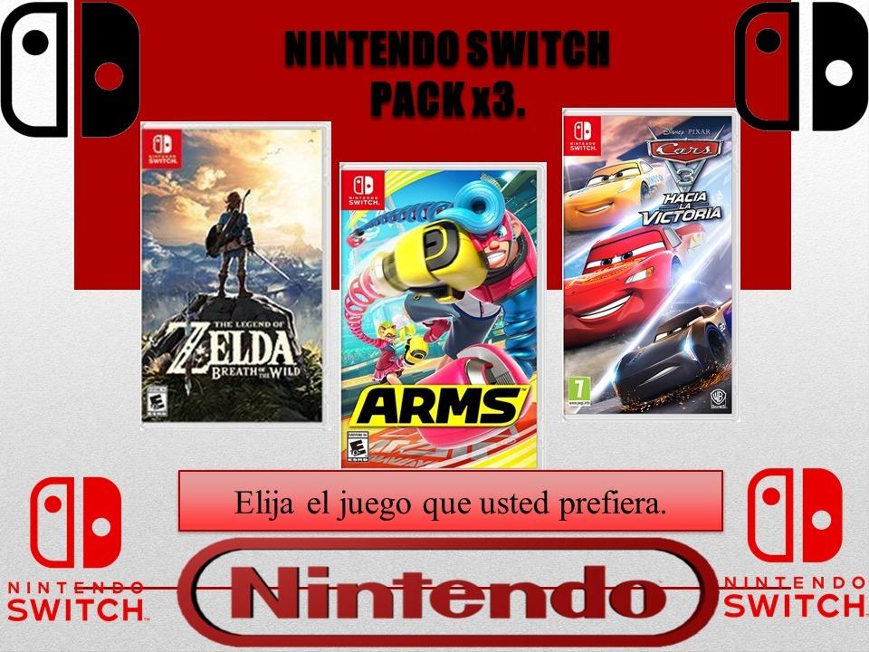 Promociona Pack X3 Juegos Nintendo Switch 1 200 00 En Mercado