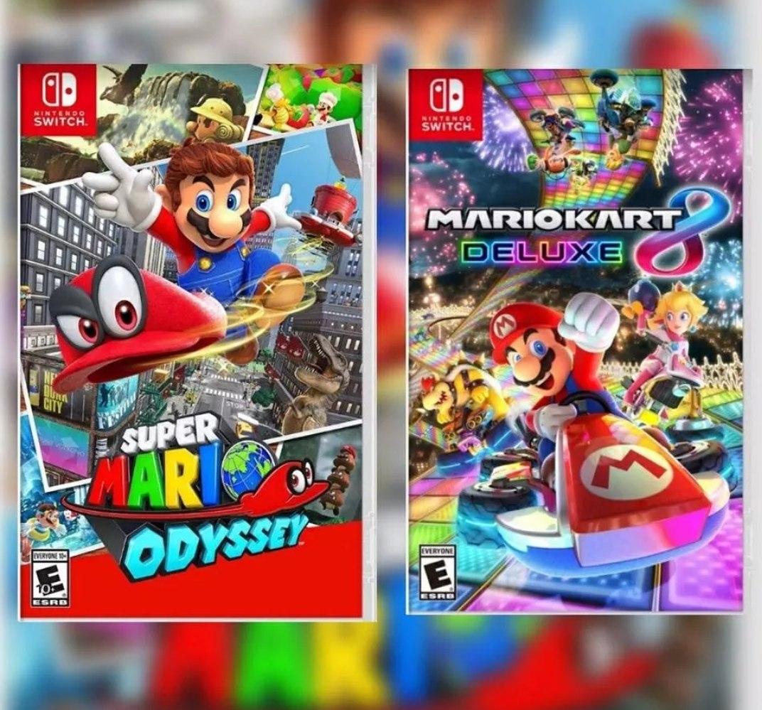 Dos Juegos Nintendo Switch Mario Kart Y Mario Odissey 2 990 00