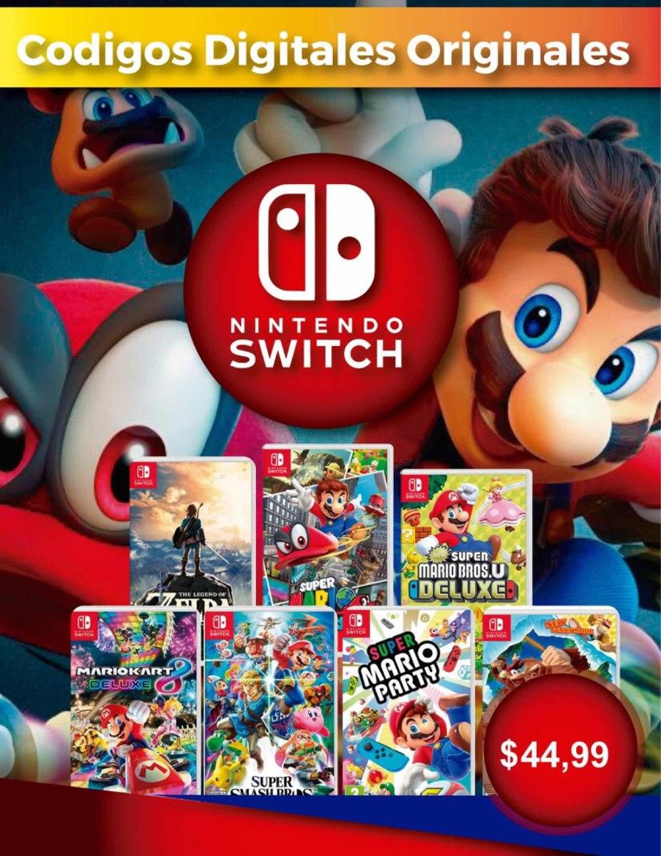 Juegos Nintendo Switch Mario Zelda Smash U S 44 99 En Mercado Libre