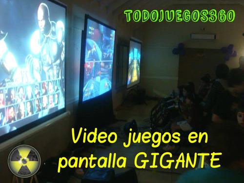 juegos pantalla gigante xbox simuladores arcade alquiler ps
