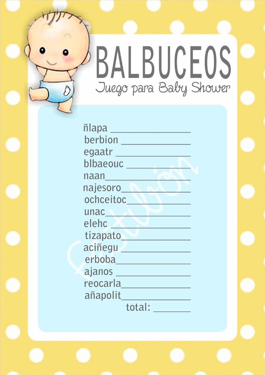 Beautiful Juegos Para Baby Shower Imprimibles Niño Niña. Cargando Zoom.