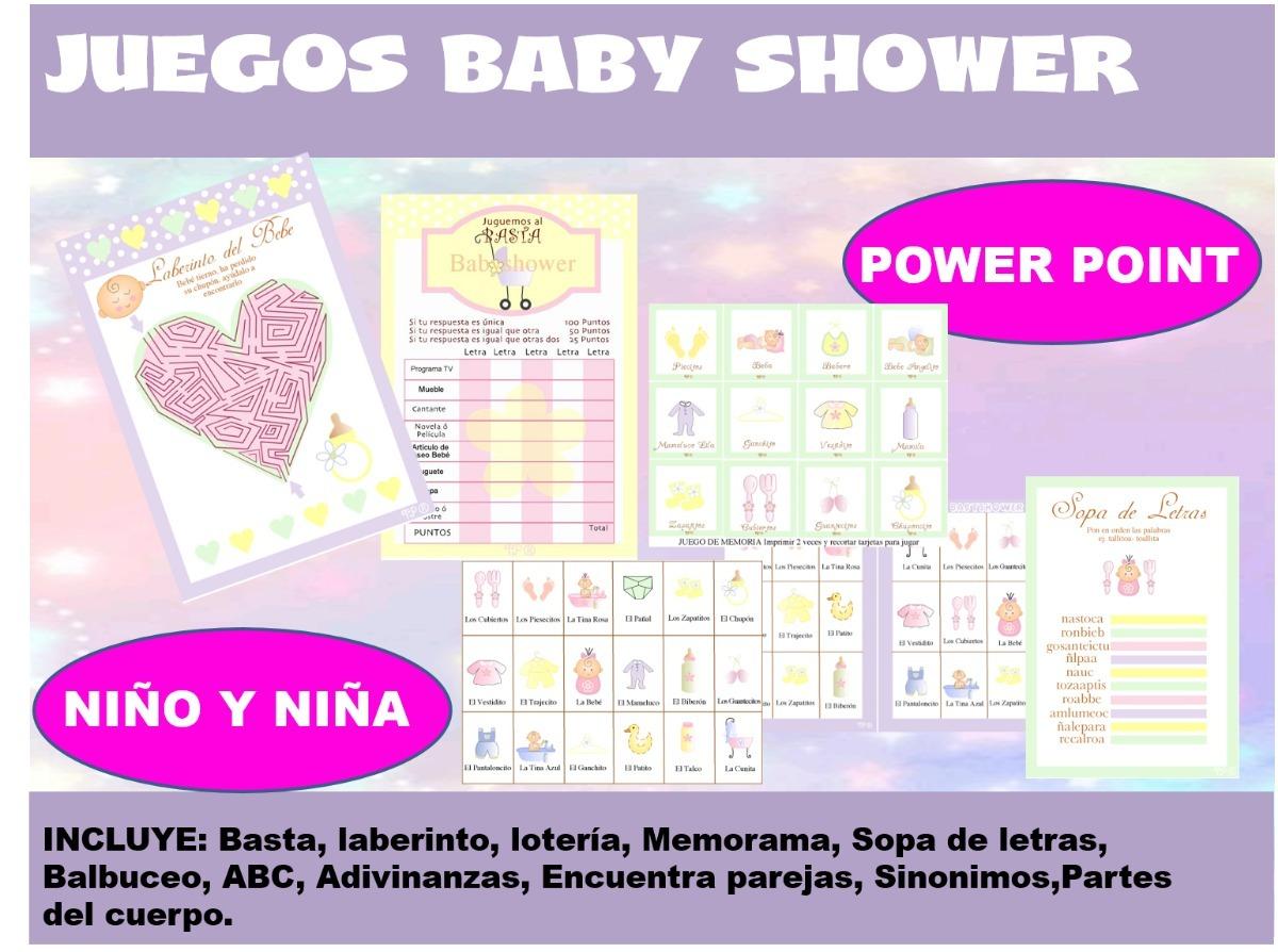 Juegos Para Baby Shower Nino Y Nina 50 00 En Mercado Libre