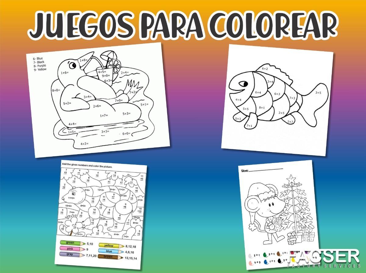 Juegos Para Colorear Pintar Por Números Une Puntos Imprimir
