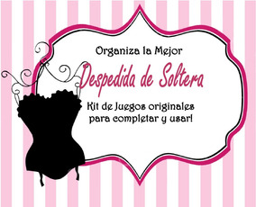 Juegos Para Despedida De Soltera Kit Imprimibledigital