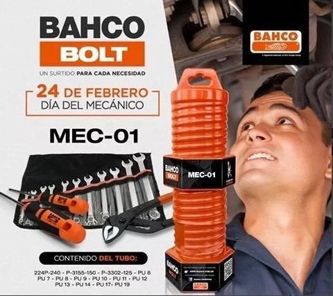 juegos para mecánico bahco mec-01 14 piezas