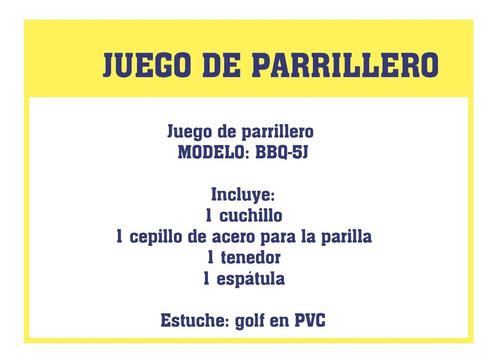 juegos parrilleros 4 piezas set de golf barbacoa