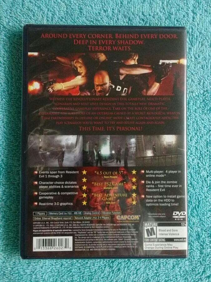 Juegos Ps2 Resident Evil Outbreak Original Nuevo Sellado