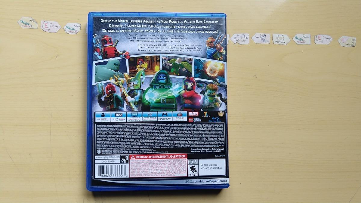 Juegos Ps4 Lego Marvel Super Heroes 269 00 En Mercado Libre