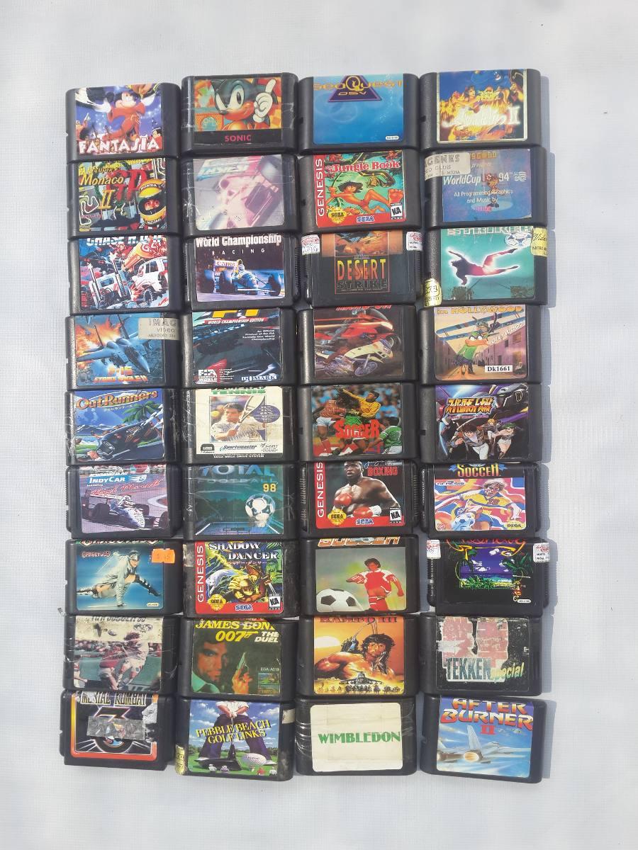 Juegos Sega Genesis Sonic 3d Rambo Knuckle Nba Jam T E Dbz 100