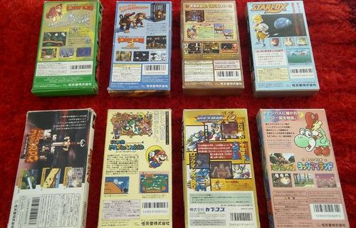 juegos super famicom en caja con manuales
