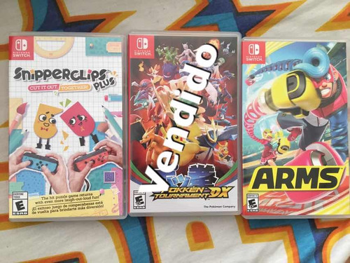 juegos switch arms pokemon snipperclips