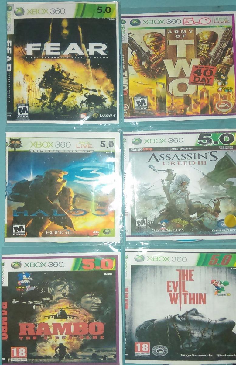 Juegos Xbox 360 5 0 Y Cable De Audio Y Video 90 000 En Mercado Libre