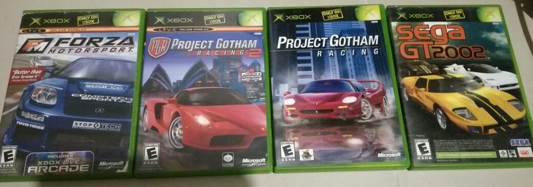 Lote 4 Juegos Xbox Clasico Forza Pgr Pgr 2 Sega Gt 60 000