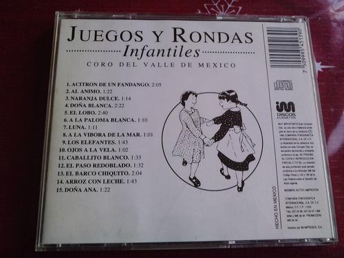 juegos y rondas infantiles coro del valle de mexico cd raroo