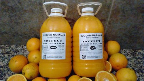 jugo de naranja 100% exprimido natural de salto