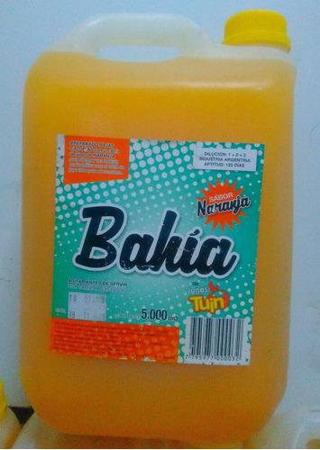 jugo naranja bahia x 5 lts. (para diluir).