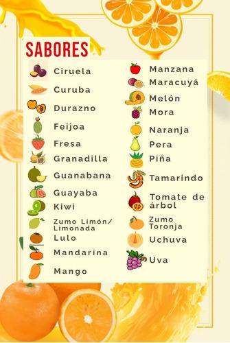 jugo por 3 litros 100% natural 100% fruta - ml a $7