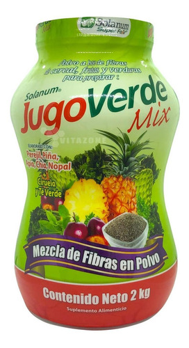 jugo verde mix fibra para mezclar en polvo 2 kg solanum
