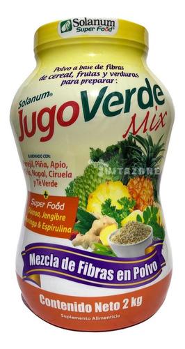jugo verde mix quinoa jengibre piña apio spirulina nopal 2kg