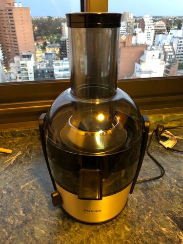 juguera extractor philips hr1863/20 aluminio con jarra