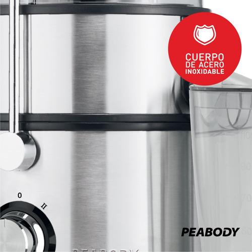 juguera  + licuadora jarra vidrio 1.5 peabody pe-jl6003 full