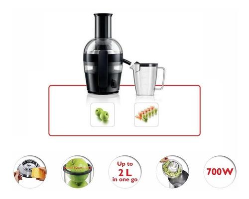 juguera philips viva hr1855 quickclean boca ancha 700w + jarra 2 litros