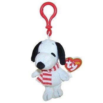 juguete 1 x snoopy con la bufanda del bebé beanie llave del