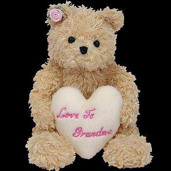 juguete 1 x ty beanie bebé - corazón estimado el oso (oro d